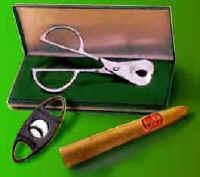 Ножницы и ручная гильотинка для обрезки сигар